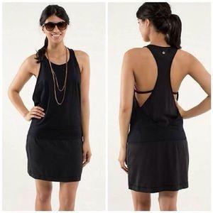Lululemon Blissed Out Dress 4 Black